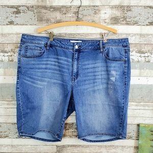 Lane Bryant Embellished Bermuda Shorts, NWT